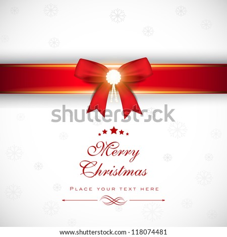 Merry Christmas greeting card, gift card or invitation card. EPS 10. - stock vector
