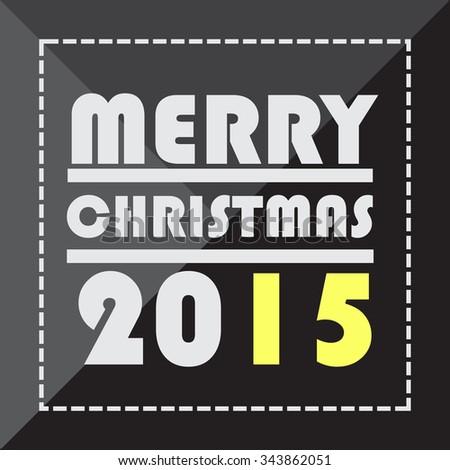 Merry Christmas greeting card.retro style vector - stock vector