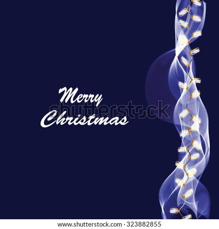 Merry Christmas greeting card ,vector