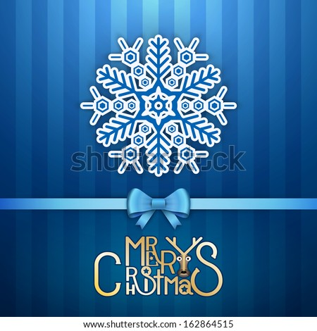 Merry Christmas Greeting Card.Vector illustration