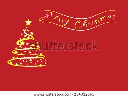 Merry christmas greeting card ,vector illustration