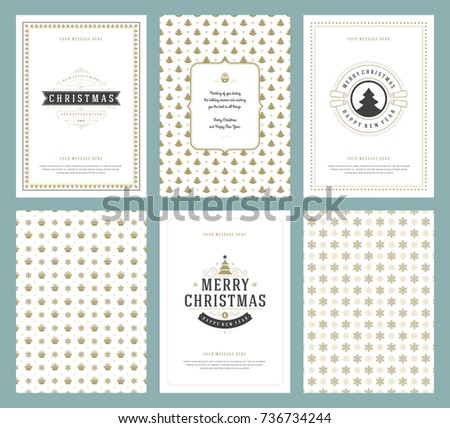 Merry christmas greeting cards templates patterns stock vector merry christmas greeting cards templates and patterns backgrounds with place for christmas holidays wish typographic m4hsunfo