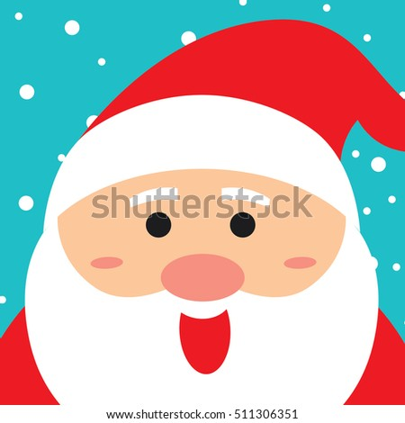 Merry Christmas greeting of cute Santa Claus