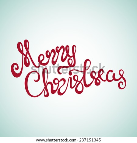 Merry Christmas Hand Lettering Sign. Calligraphic decorative font hand drawn. Elegant and Festive Christmas Letters/Merry Christmas Hand Lettering/Merry Christmas Hand Lettering - stock vector