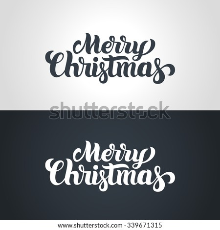 Merry Christmas hand-lettering text. Handmade vector calligraphy collection - stock vector