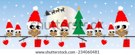 merry christmas happy holidays header or banner - stock vector