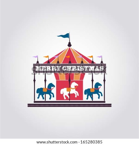 merry go round horse template - vintage carousel fun fair and carnival poster template