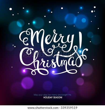 Merry Christmas holiday background. Happy New Year card. Vector illustration - stock vector