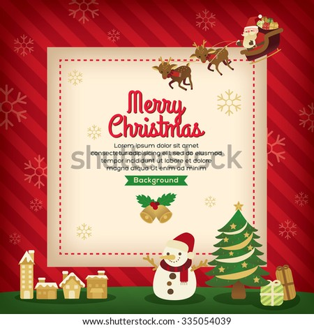 Merry Christmas holiday card background design - stock vector