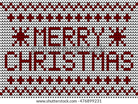 Merry Christmas Knitting Pattern
