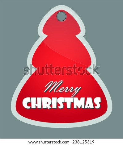 Merry Christmas. Label, badge. Vector Illustration - stock vector