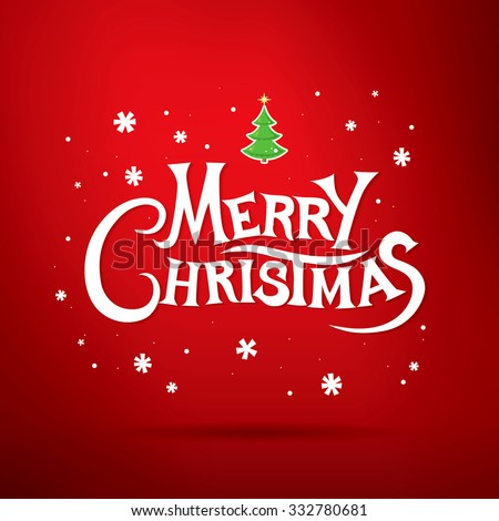merry christmas lettering christmas greeting card