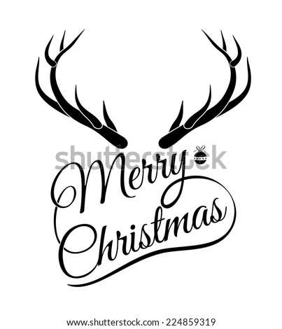 Merry christmas  lettering. Christmas greeting card.  vector illustration. can use for printing and web element. - stock vector