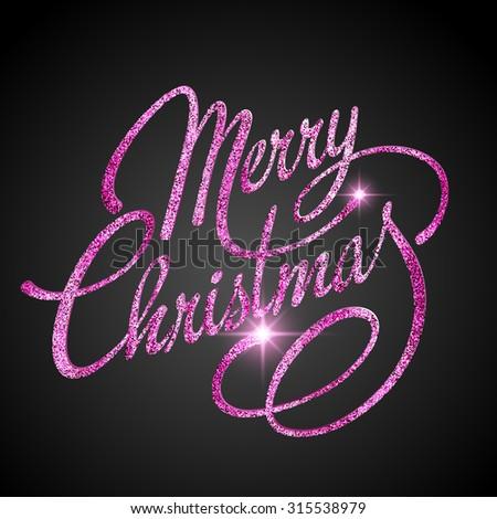 Merry Christmas Lettering Design. Vector illustration. EPS 10. - stock vector