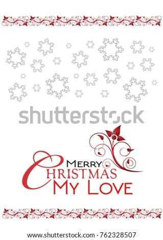Merry christmas my love greetings card stock vector 762328507 merry christmas my love greetings card and red wishes m4hsunfo