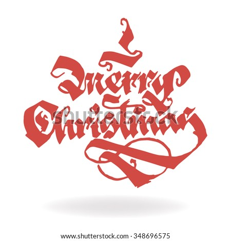 MERRY CHRISTMAS original custom hand lettering typography background for romantic photo cards/ party invitations for Christmas Holidays
