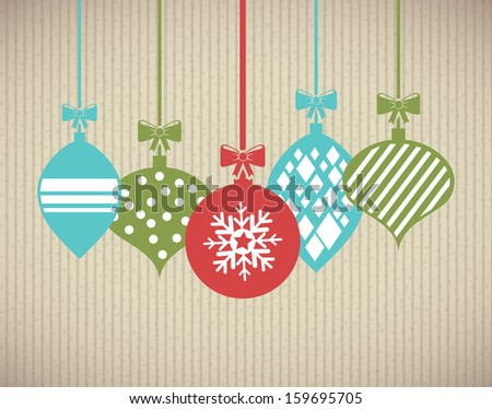 merry christmas  over background  vector illustration  - stock vector