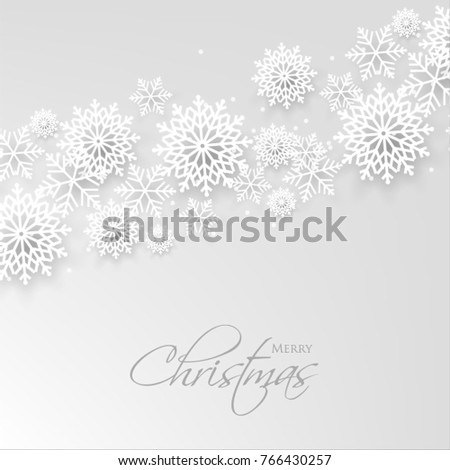 Merry Christmas Party Invitation Template Snowflake Stock Photo ...