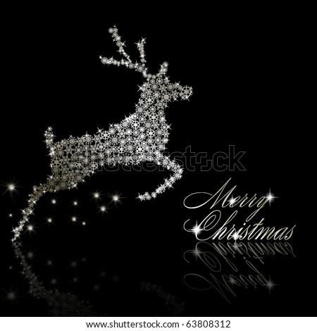 Merry Christmas postcard. Vector eps10 illustration - stock vector