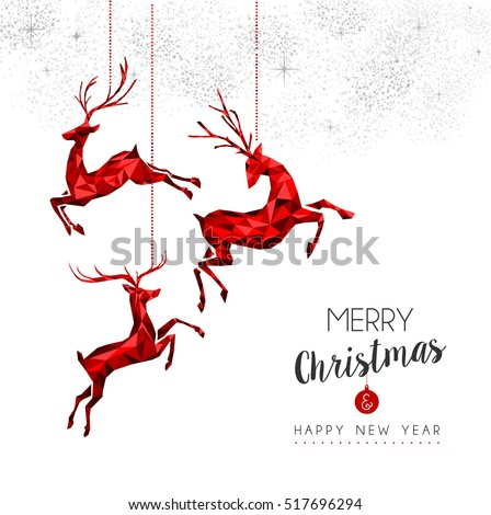 Merry Christmas Red Color Holiday Decoration Stock Vector ...