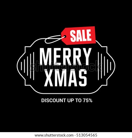 Merry Christmas sale design template. Xmas banner. Christmas decoration vector design elements. Typographic elements, vintage labels, frames, ribbons. Flourishes calligraphic. Vector illustration
