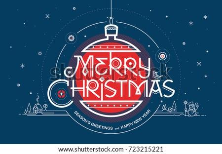 Merry christmas seasons greetings happy new stock vector 723215221 merry christmas seasons greetings and happy new year greeting card vector illustration m4hsunfo