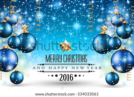 Merry Christmas Seasonal Background for your greeting cards, New Years Flyer, Chrstmas dinner invitation, posters and do on. - stock vector