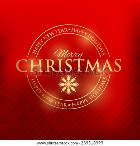 Merry Christmas Shine Badge, Banners, Cards Vector Design  - stock vector