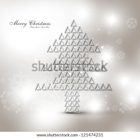 merry christmas stylish tree card background vector