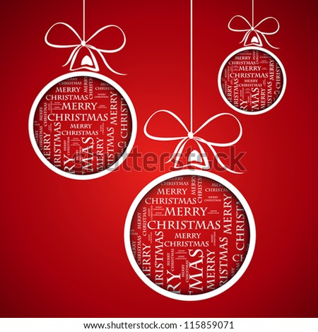 merry christmas template. merry christmas concept - stock vector