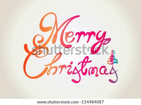 Merry Christmas Text Design Stock Vector 114484087 - Shutterstock