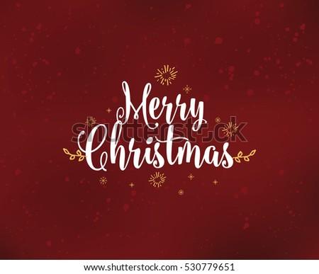 Merry Christmas Text Design Vector Logo Stock Vector 531016174 ...