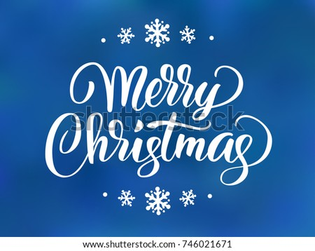 Merry christmas text holiday greetings quote stock vector royalty holiday greetings quote hand drawn lettering on blue background great m4hsunfo