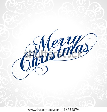 Merry Christmas. Vector. - stock vector