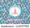 Merry Christmas Vector Background - stock vector