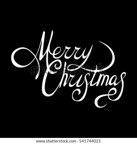 Merry Christmas vector text Calligraphic Lettering design card template.Creative typography for Holiday Greeting Gift Poster. Calligraphy Font style Banner