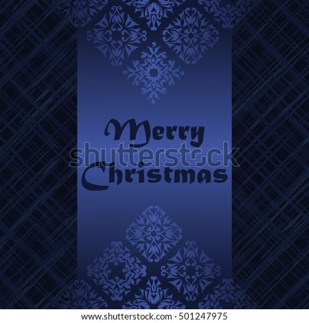Merry Christmas Vintage Background. Retro pattern