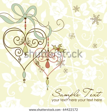 merry christmas with love - stock vector