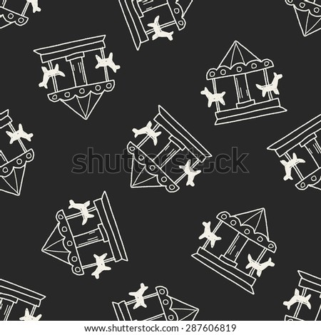 Merry to go doodle seamless pattern background - stock vector