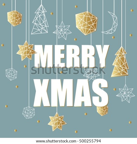 Merry xmas luxury gold gold background stock vector 500255794 merry xmas luxury gold gold background with stars balls noel and holiday elements in stopboris Gallery