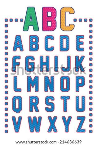 mesh alphabet - stock vector