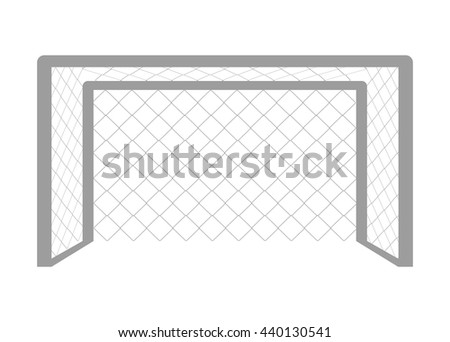 mesh football front view over isolated background,vector illustration - stock vector