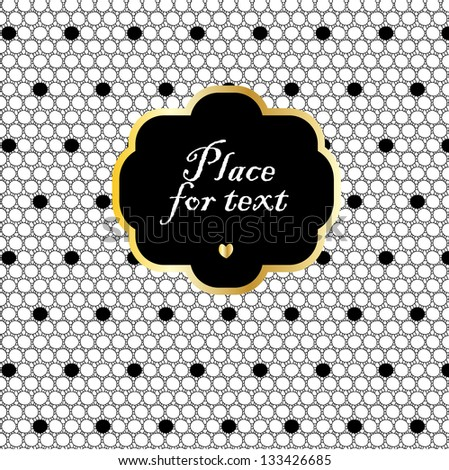 Mesh with dots background with a frame. - stock vector