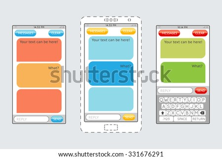 Phone Text Bubble Stock Images, Royalty-Free Images & Vectors