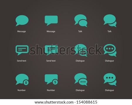 Message bubble icons. Vector illustration. - stock vector