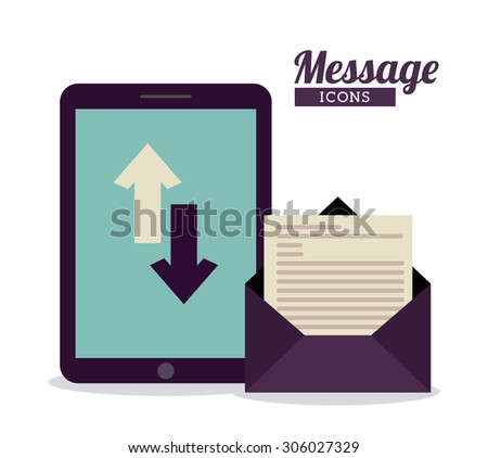 Message digital design, vector illustration eps 10