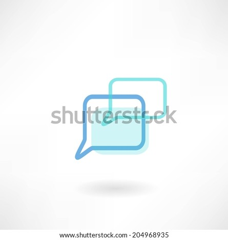message icon - stock vector