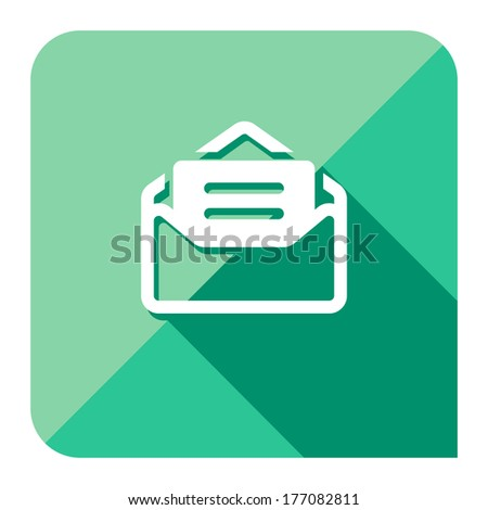 message inbox icon. flat style. - stock vector