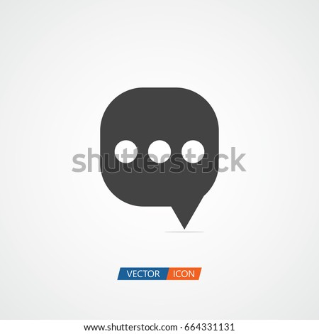 Message Logo Vector Template