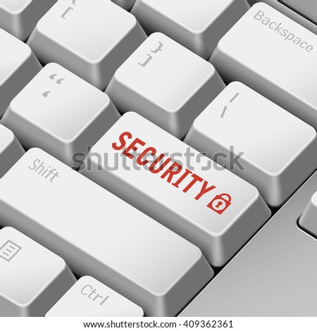 message on 3d illustration keyboard enter key for security concepts - stock vector